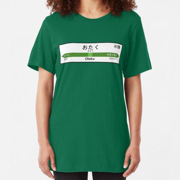 Otaku Station • オタク駅 Slim Fit T-Shirt