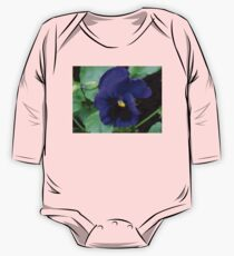 Little Purple Pansy Baby Body Langarm