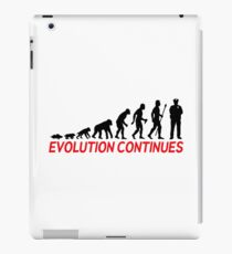 Funny Police Officer Evolution Of Man Continues iPad Case/Skin