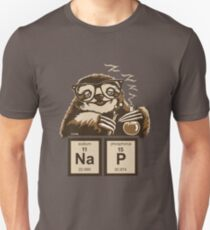 Chemie-Faultier entdeckte Schläfchen Slim Fit T-Shirt