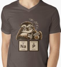 Chemistry sloth discovered nap Men's V-Neck T-Shirt
