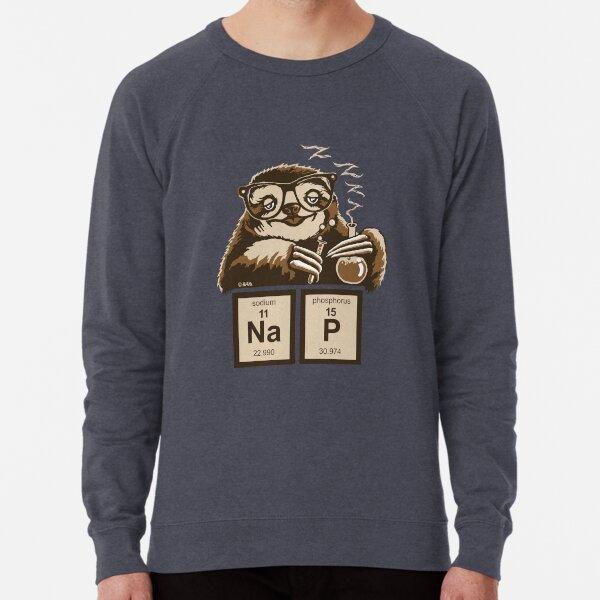 Chemistry sloth discovered nap Lightweight Sweatshirt