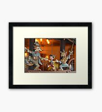 A Fox, A Cat, A Wooden Boy, Marionette Puppet Boy  Framed Print