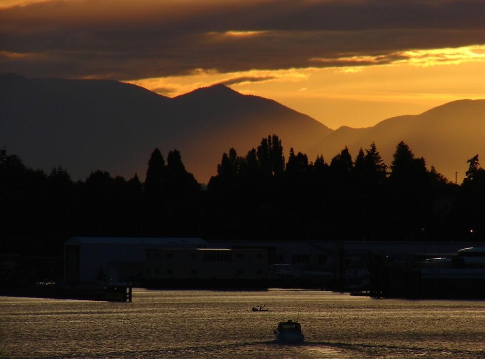 Olympic Sunset by Honario