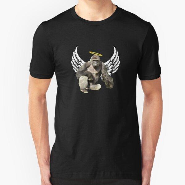 Harambe Meme Design Slim Fit T-Shirt