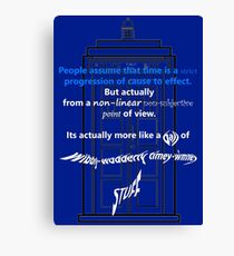 Wibbly-Wobberly Timey-Wimey Canvas Print