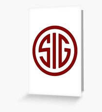 Sig Sauer Firearms Greeting Card