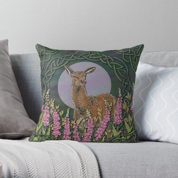 Celtic Deer Throw Pillow