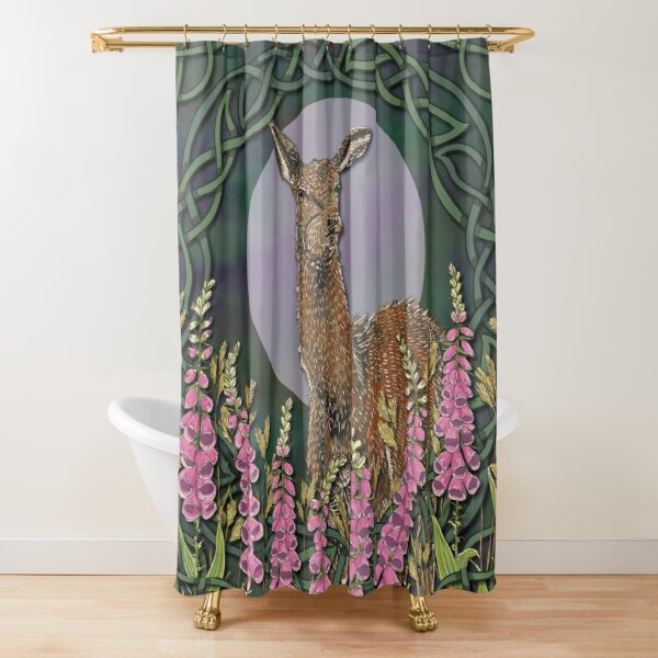 Celtic Deer Shower Curtain