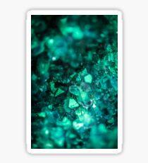Bold Teal Green Geode Sticker