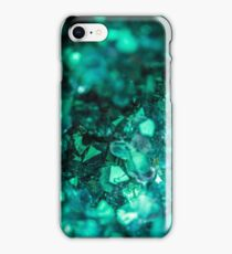 Bold Teal Green Geode iPhone Case/Skin