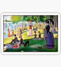 Sunday Afternoon On The Island Of La Grande Jatte Sticker