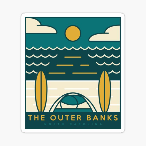 Outer Banks Stickers & More! Sticker