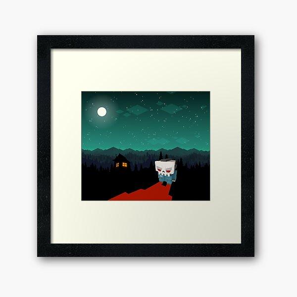Slayaway Camp - Night Sky Framed Art Print