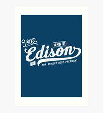 Vote Edison Art Print