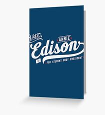 Vote Edison Greeting Card