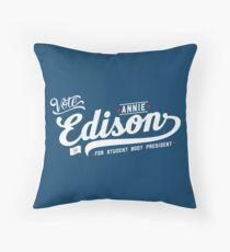 Vote Edison Throw Pillow