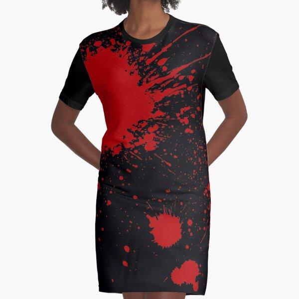 Slayaway Camp - Bloodsplat (Black) Graphic T-Shirt Dress