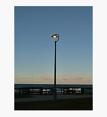 Beachside Street Lamp Photographic Print