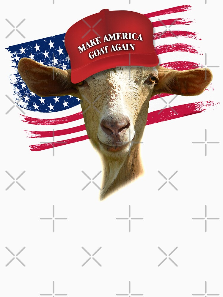 Make America GOAT Again Golden Guernsey Goat by IconicTee