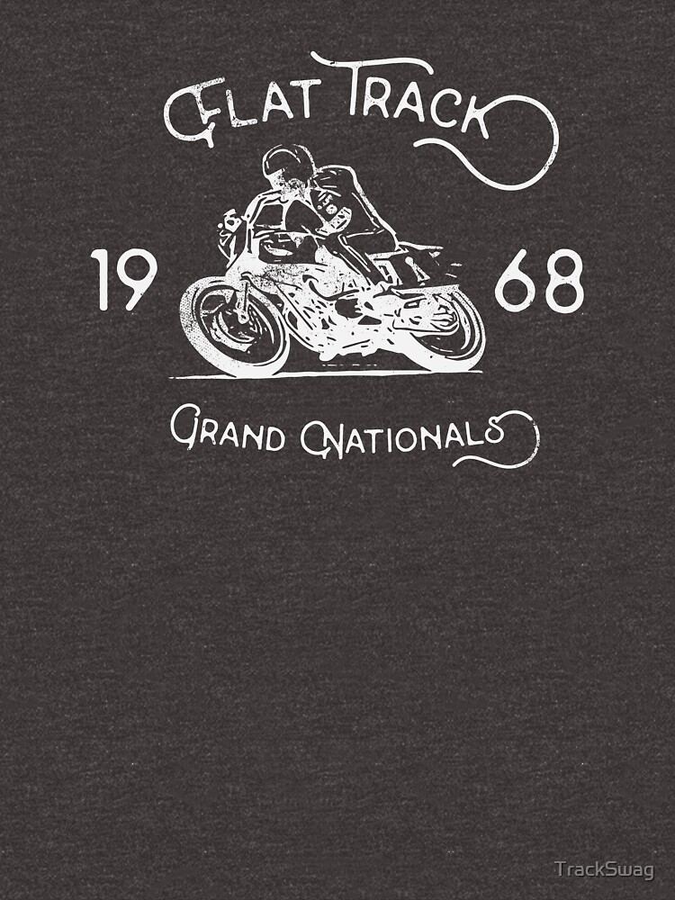 Flat Track Grand Nationals - white by TrackSwag