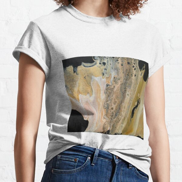Abstract in yellows, cream and black Classic T-Shirt