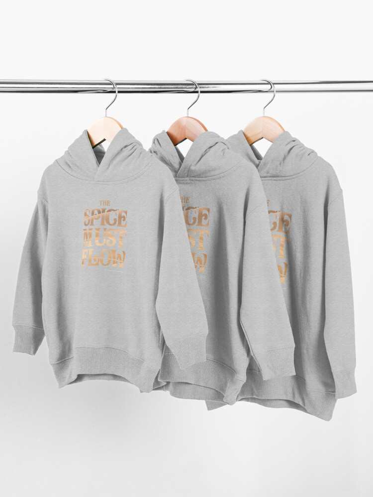 Alternate view of The Spice Must Flow, Dune Toddler Pullover Hoodie