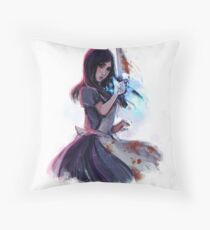 alice - outsider's marker Throw Pillow