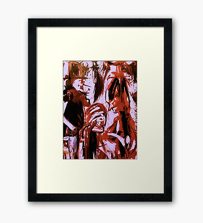 dark spirits......saving face shaman Framed Print