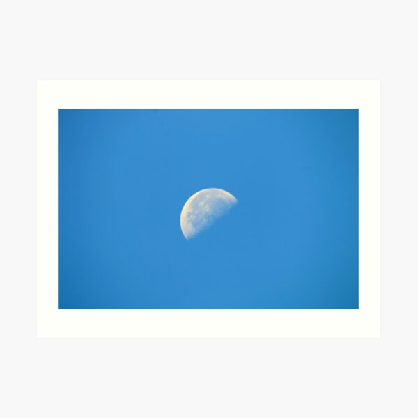 Day Moon Art Print