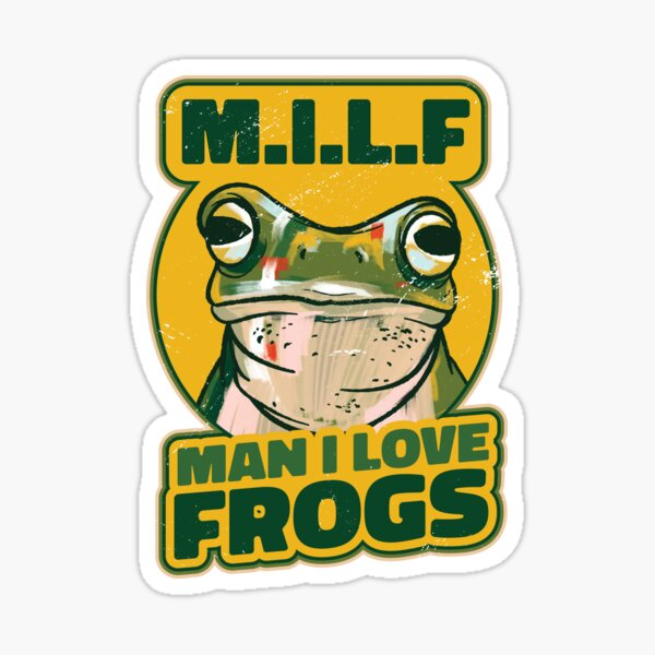 M.I.L.F Man I Love Frogs Shirt, T-shirt MILF Man I Love Frogs, M.I.L.F Man I Love Frogs Masques ajustés, M.I.L.F Man I Love Frogs Masks Sticker