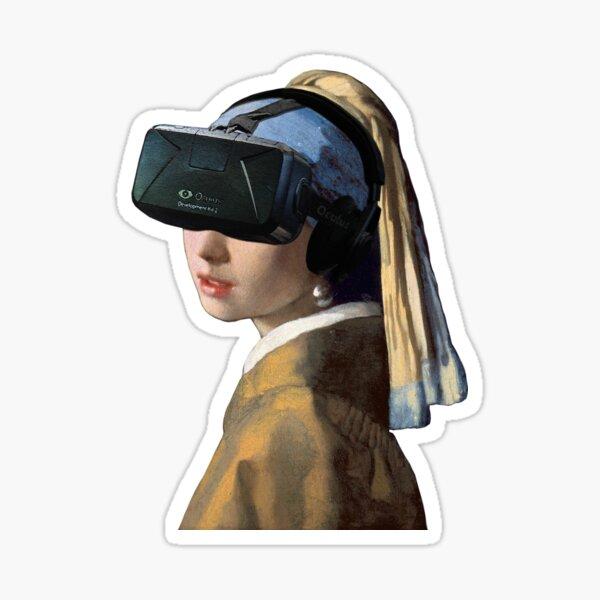 Girl With The Oculus Rift Sticker