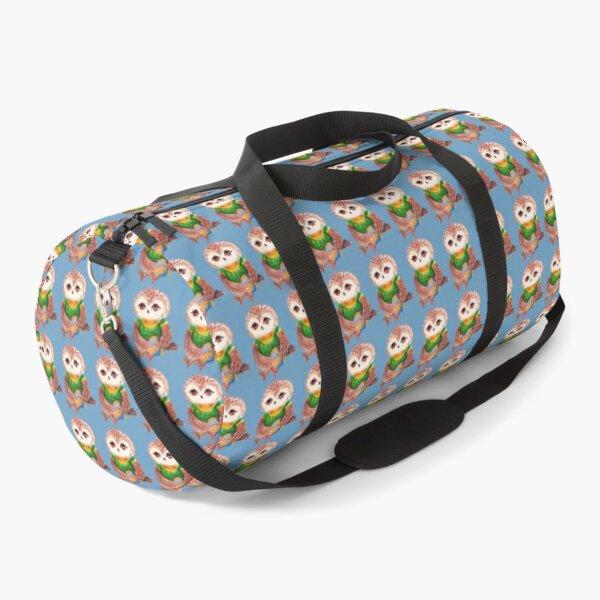 Baby owl bird. Watercolor Owl. Cool baby Owl. Owl for Kids. Duffle Bag