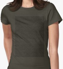 john mayer's discography Womens Fitted T-Shirt