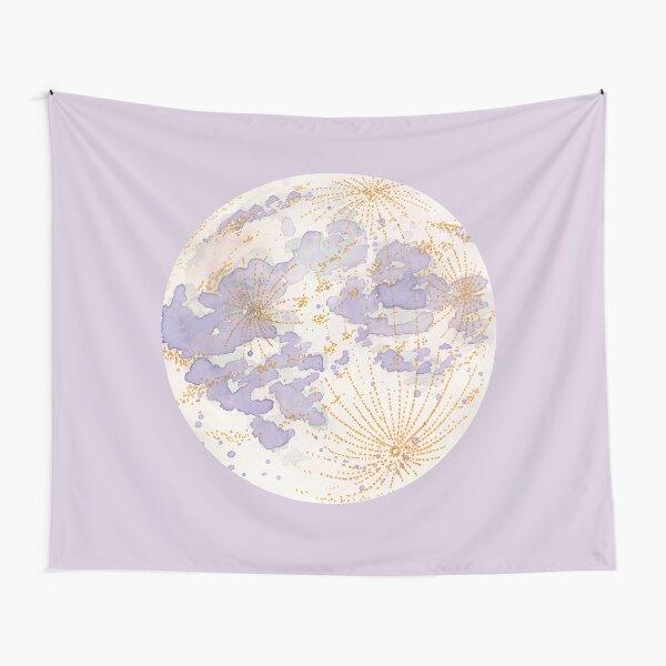 Lavendar Peach Moon Tapestry