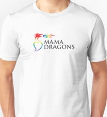 Mama Dragons Logo (Black Letters) Unisex T-Shirt