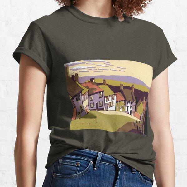 Gold Hill - Original linocut by Francesca Whetnall Classic T-Shirt
