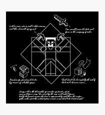 Vitruvian Minecraft Photographic Print