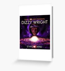 Dizzy Wright State of Mind Greeting Card