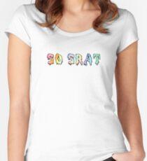 So Srat Tie Dye Women's Fitted Scoop T-Shirt