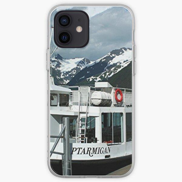 MV Ptarmigan tour boat, Portage Lake, Alaska iPhone Soft Case