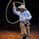 Roping at the Rodeo by TonyCrehan