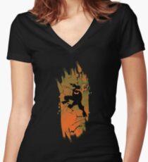 TEENAGE MUTANT NINJA TURTLE MICHELANGELO Women's Fitted V-Neck T-Shirt