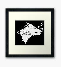 The Desolation Of Smaug - Smaug is Coming Framed Print