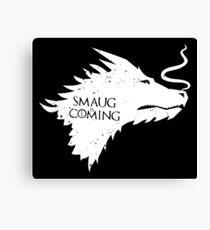 The Desolation Of Smaug - Smaug is Coming Canvas Print