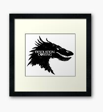 The Desolation Of Smaug - Smaug is Coming Framed Print
