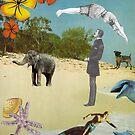Beach Postcard by kewzoo