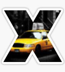 """Pixels Print """"NYC TAXI"""" Sticker"""