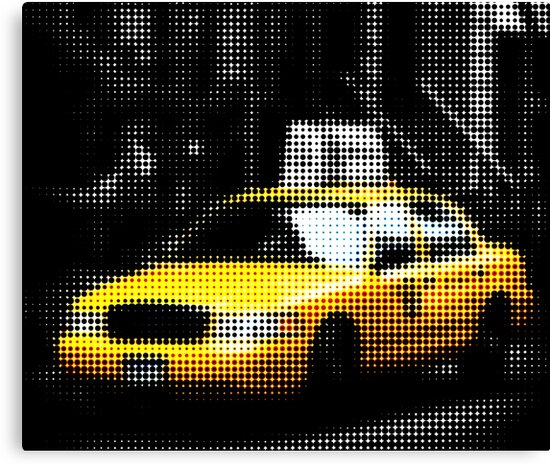 "Pixels Print ""NYC TAXI"" by Philippe HUGONNARD"