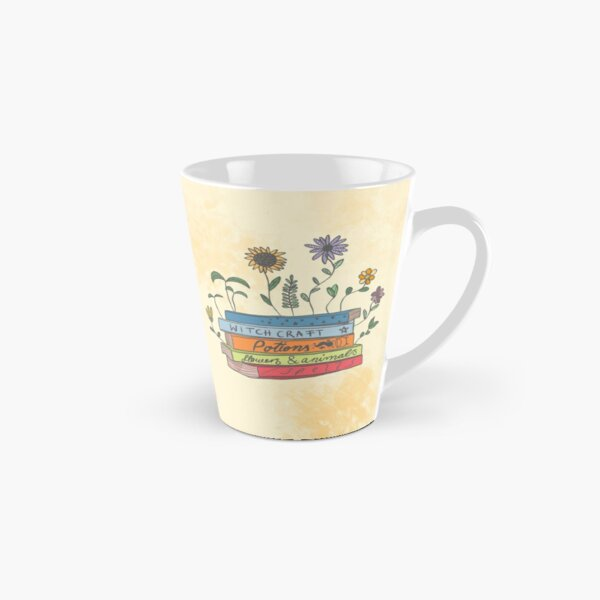 Witchy Books with Flowers Tall Mug